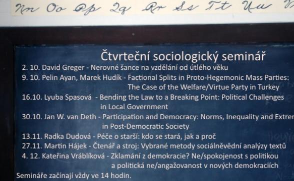 Čtvrteční sociologické semináře