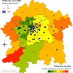 Thefts From Car in 2011 in Prague Metropolitan Area